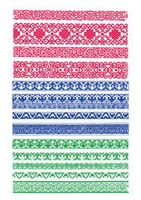 民族彩色的花边素材