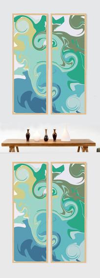 抽象艺术色彩装饰画双联