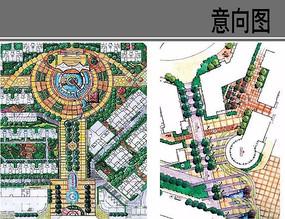 圆形广场平面图
