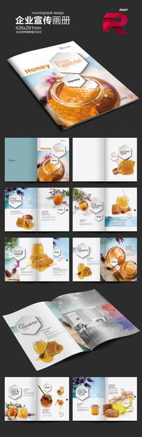 国外时尚蜂蜜产品画册版式设计