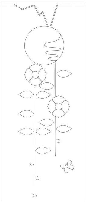 蝶恋花雕刻图案
