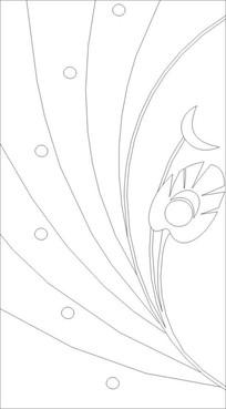 孔雀尾雕刻图案