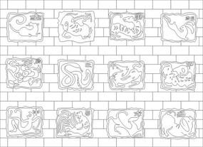 十二生肖雕刻圖案