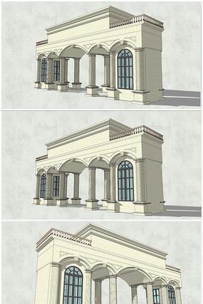 古典欧式风格罗马柱大门