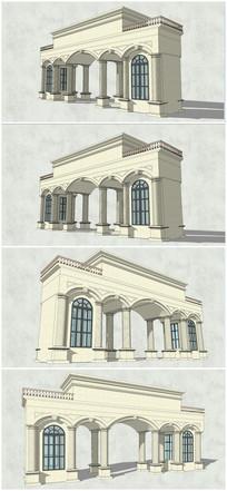 古典歐式風格羅馬柱大門