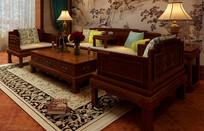 中式沙发MAX模型