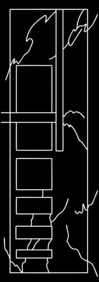 抽象线条图雕刻图案