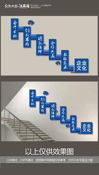 合作共赢企业楼梯文化墙