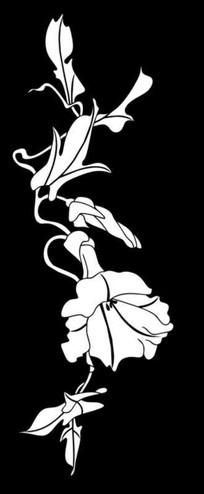 镂空喇叭花雕刻图案