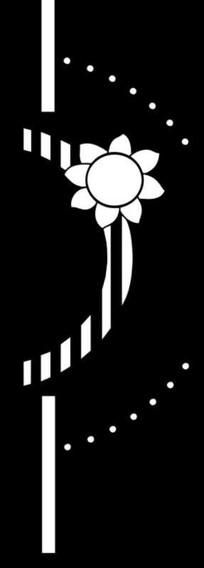 镂空太阳花雕刻图案