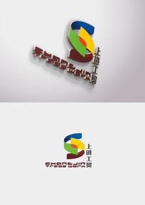 彩色大气工业LOGO设计