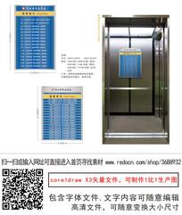 医院电梯楼层索引牌楼层指引
