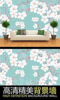 淡雅唯美花卉艺术背景墙
