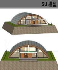 拱形房子实验室温室棚