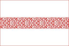 红色花纹移门图案