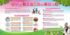 计划生育全面二孩政策宣传栏