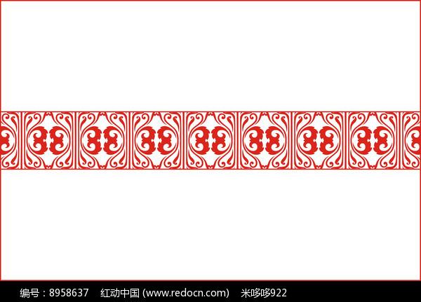 红色花纹移门图案图片