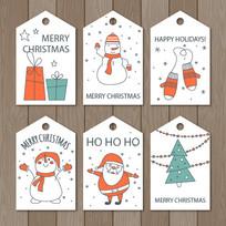 简约精美圣诞节矢量标签