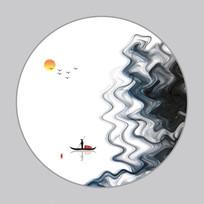 新中式意境云山水墨画装饰画