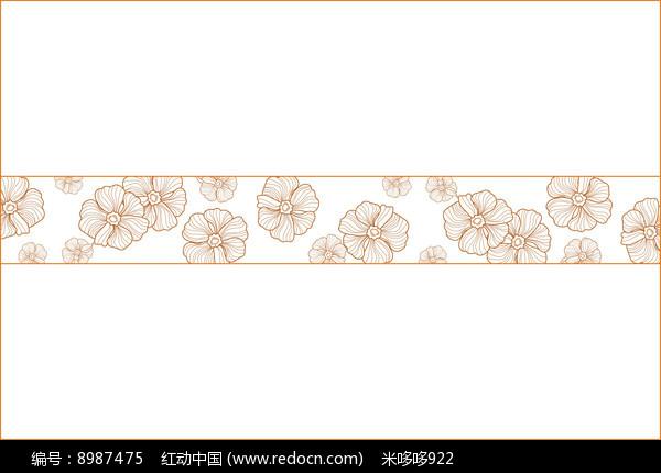 娇艳花朵移门图案图片