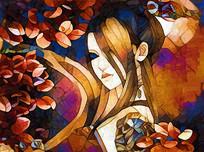 美女印象油画装饰画