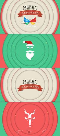 圣诞节新年节目问候片头模板