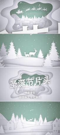 圣诞节新年片头ae模板