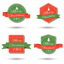 精美大气圣诞节吊牌矢量标签