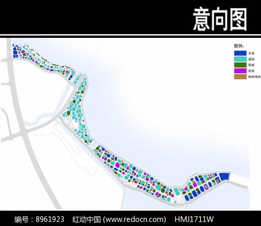 某华侨城景观场地空间分析图图片