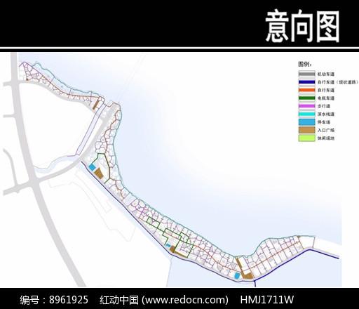 某华侨城景观交通组织规划图图片