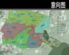 青岛某旅游度假区功能结构图