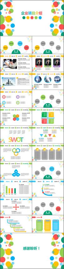 企业创业项目介绍PPT模板