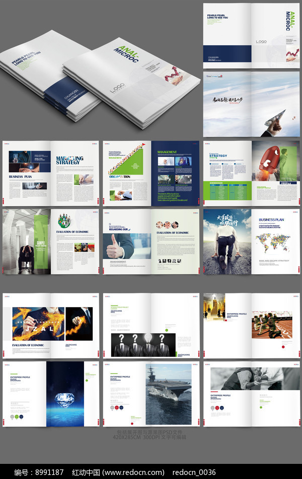 企业宣传册模版图片