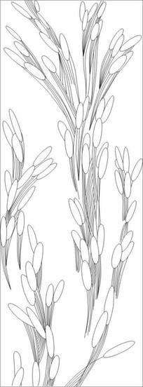 抽象麦穗雕刻图案