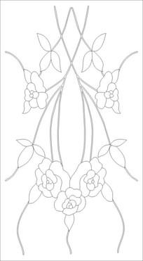 抽象玫瑰花雕刻图案