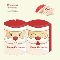 圣诞节圣诞老人简约趣味包装盒设计
