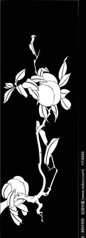 桃子雕刻图案