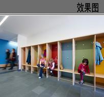 幼儿园换鞋区效果图