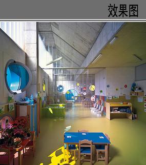 幼儿园室内活动教室效果图