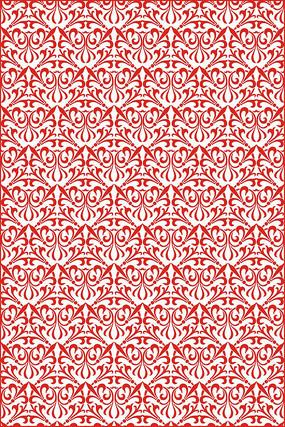 红色花纹雕刻图案