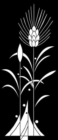 麦穗雕刻图案