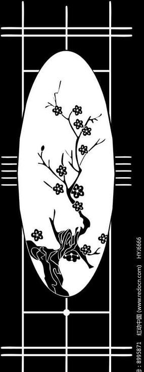 梅花情雕刻图案