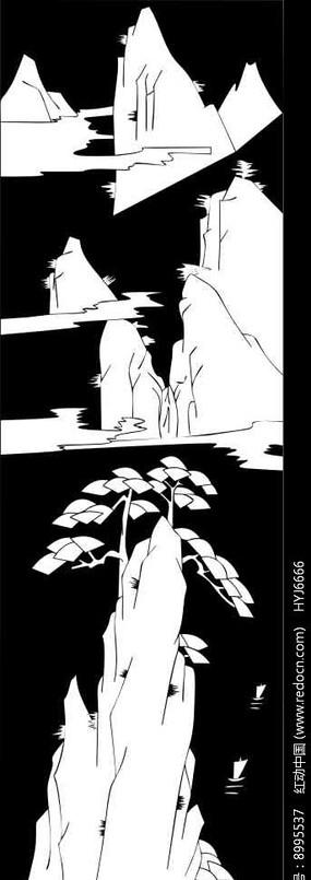 松樹矢量圖