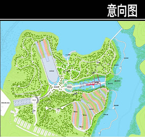 东部华侨城某公园平面图
