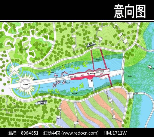 东部华侨城某公园主轴区平面图图片