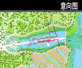 东部华侨城某公园主轴区平面图