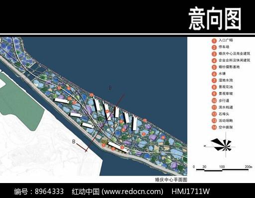 某华侨城婚庆中心平面图图片