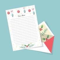 圣诞节写信信纸模版
