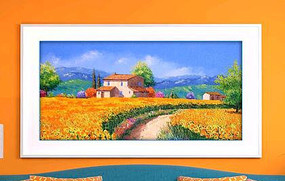 美丽乡村油画装饰画