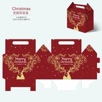 圣诞节圣诞麋鹿趣味包装礼盒